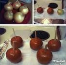 Onion toffee apples